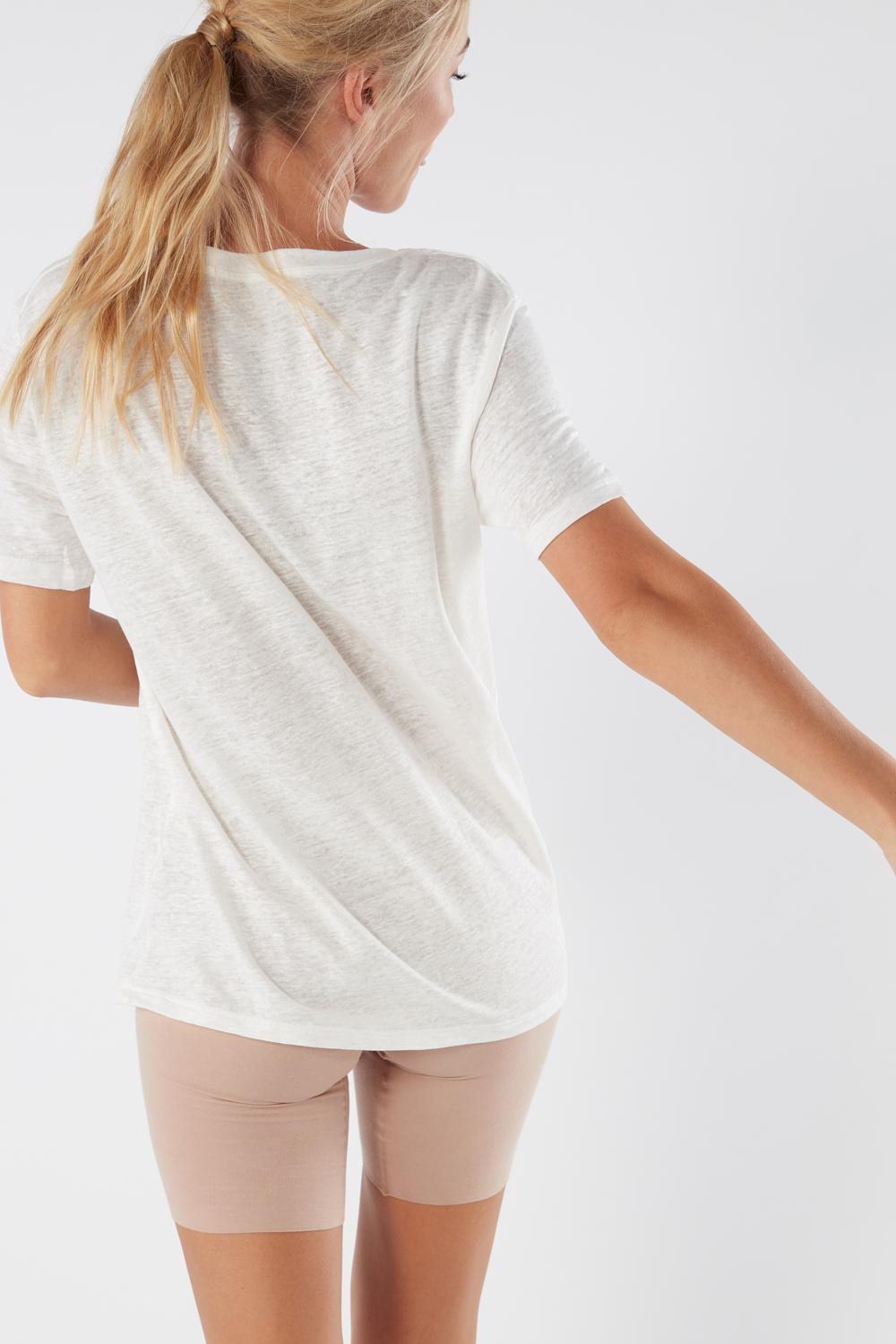 Short-Sleeved Linen Top