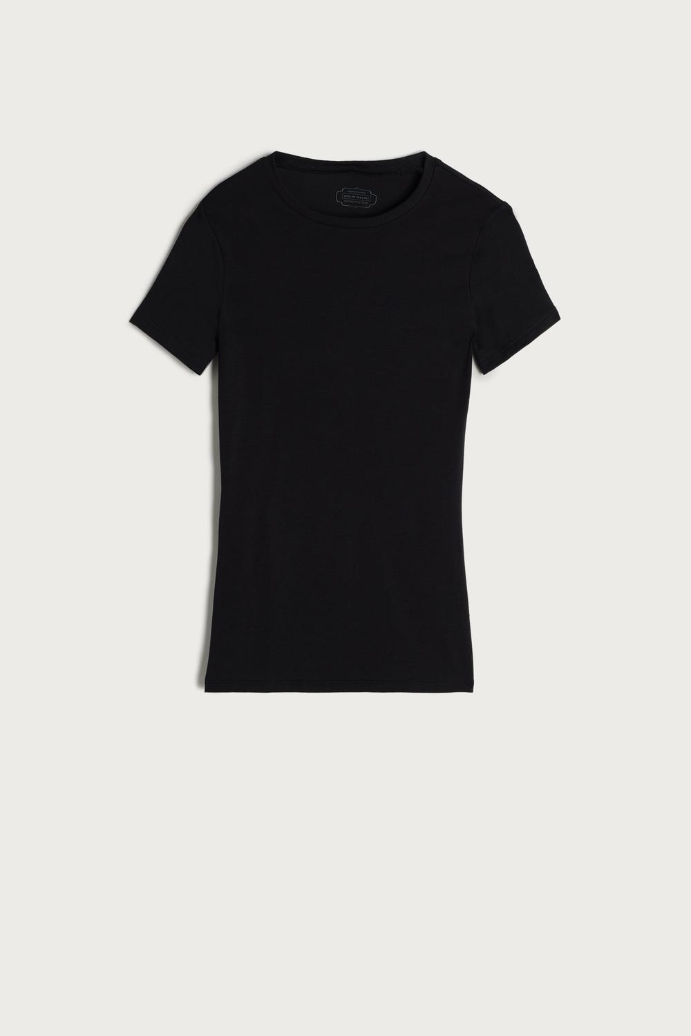 Short-Sleeved Stretch Supima® Cotton Top