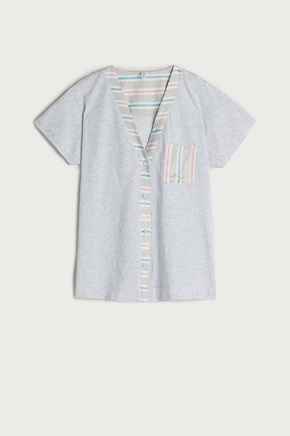 Flower Stripes Supima Shirt