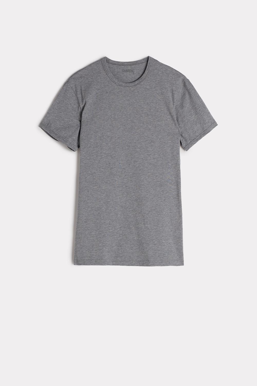 Stretch Cotton Crew Neck T-Shirt