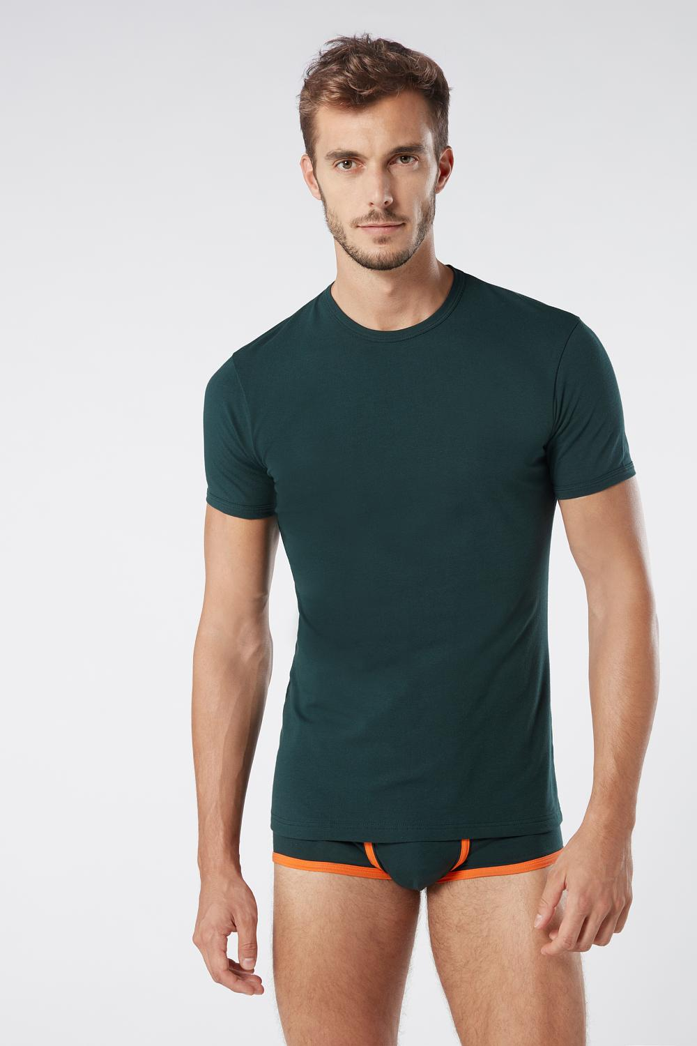 Stretch Cotton Crew Neck T-Shirt