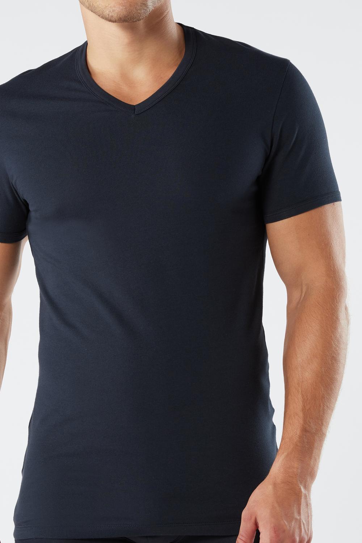 ストレッチコットン Vネック Tシャツ