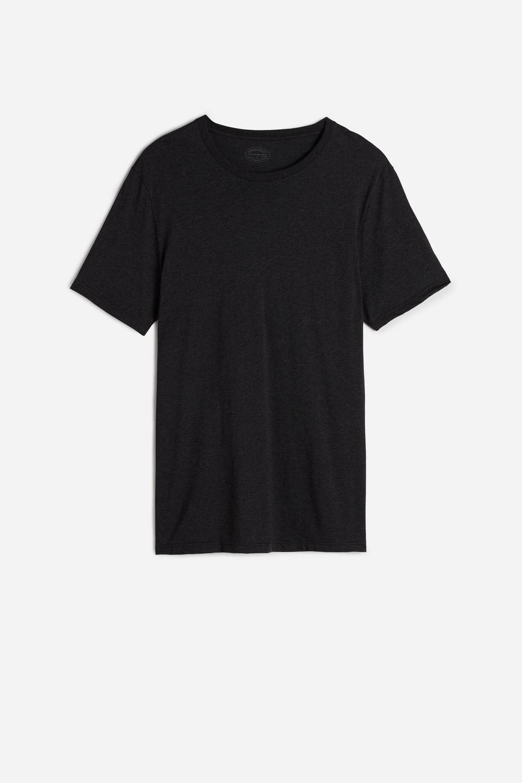 Short Sleeve Round Neck T Shirt in Supima® Cotton