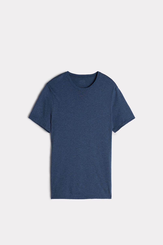 Kurzarm-T-Shirt mit Rundhalsausschnitt aus Supima®-Baumwolle