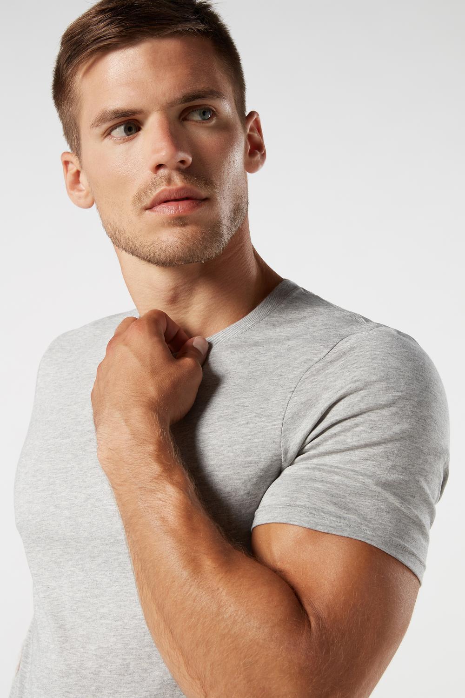 Short Sleeve Crew Neck T Shirt in Supima® Cotton