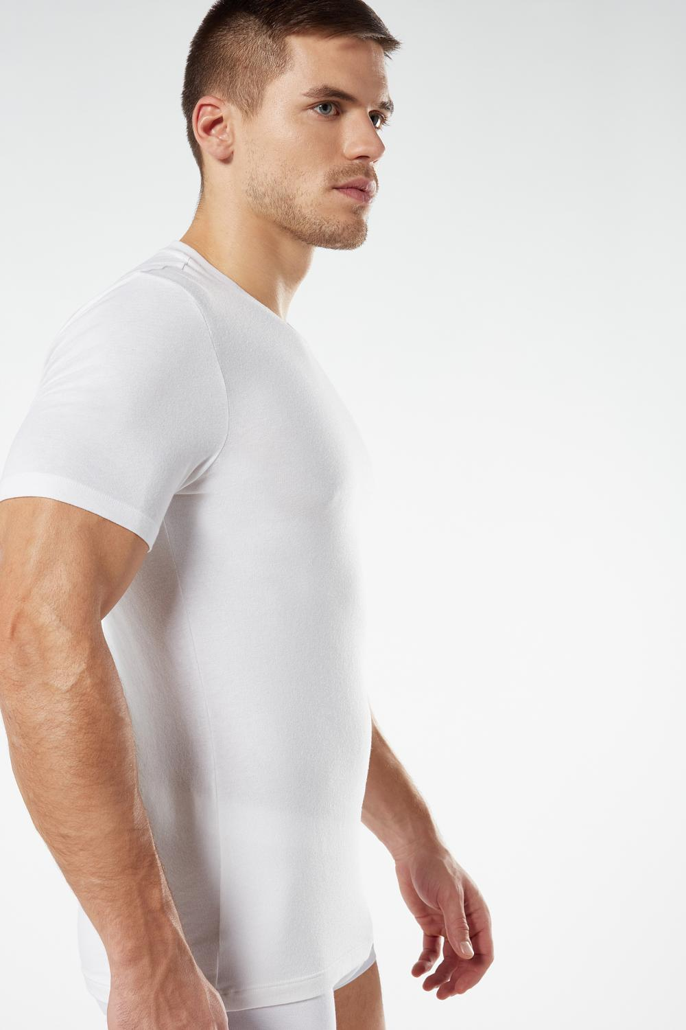 Short-Sleeved Cotton and Cashmere T-Shirt