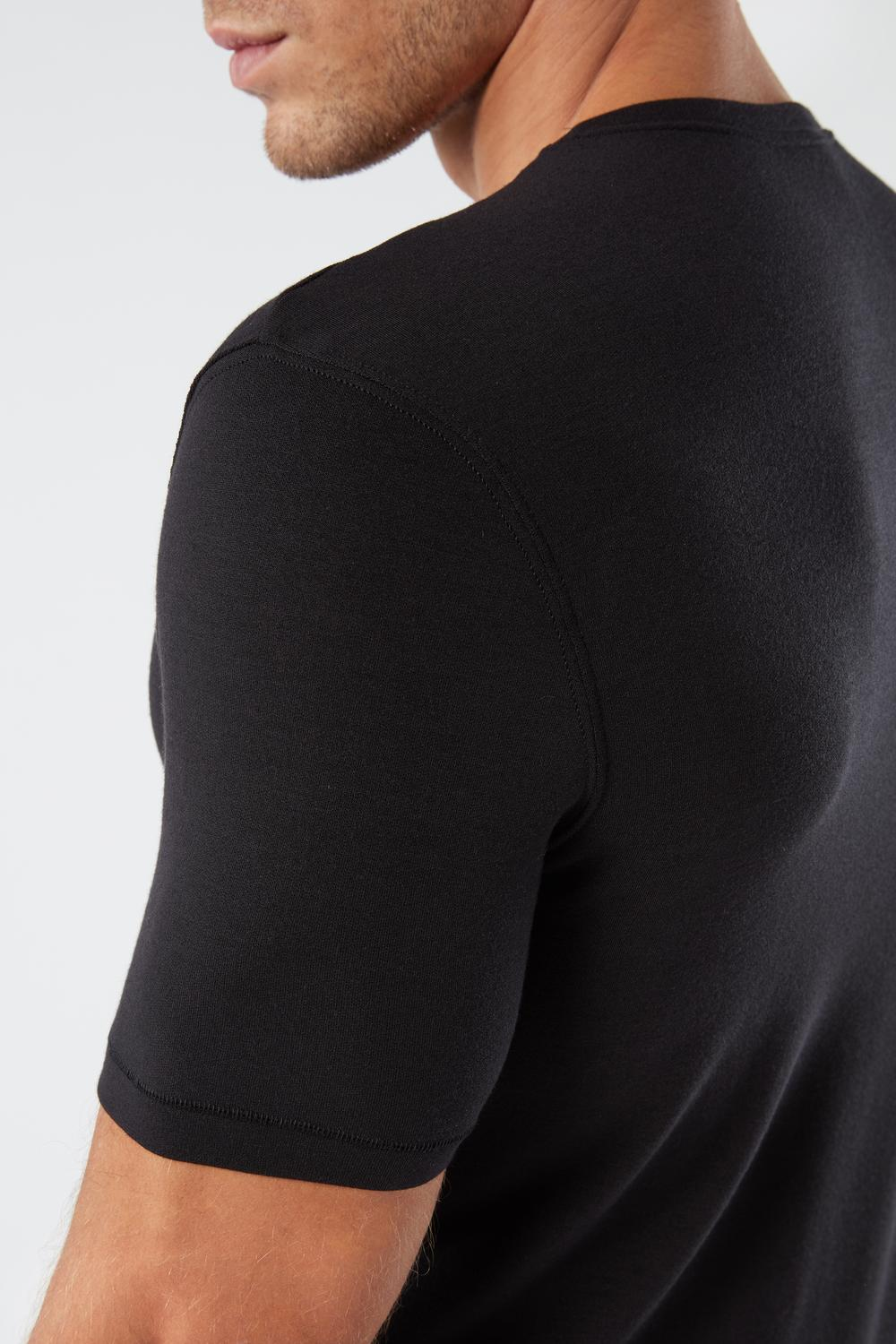 Short-Sleeve Modal-Cashmere Top