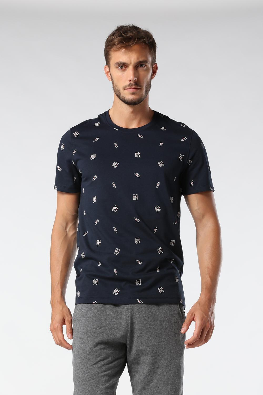 T-shirt con Vestibilità Regular e Stampa Micro