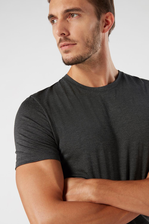 Crew-Neck Silk and Modal T-Shirt