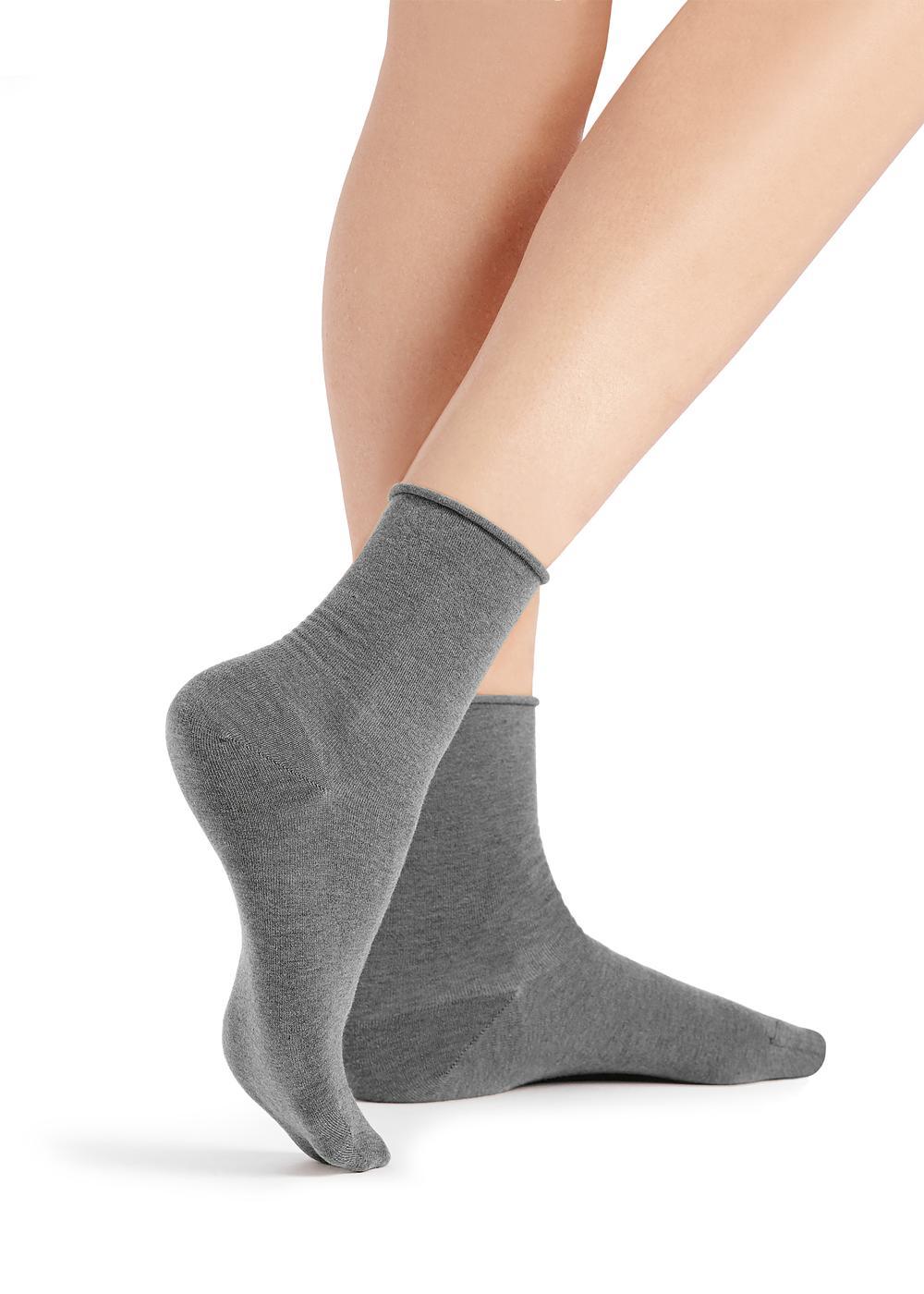 Chaussettes à Bords sans Coutures en Coton