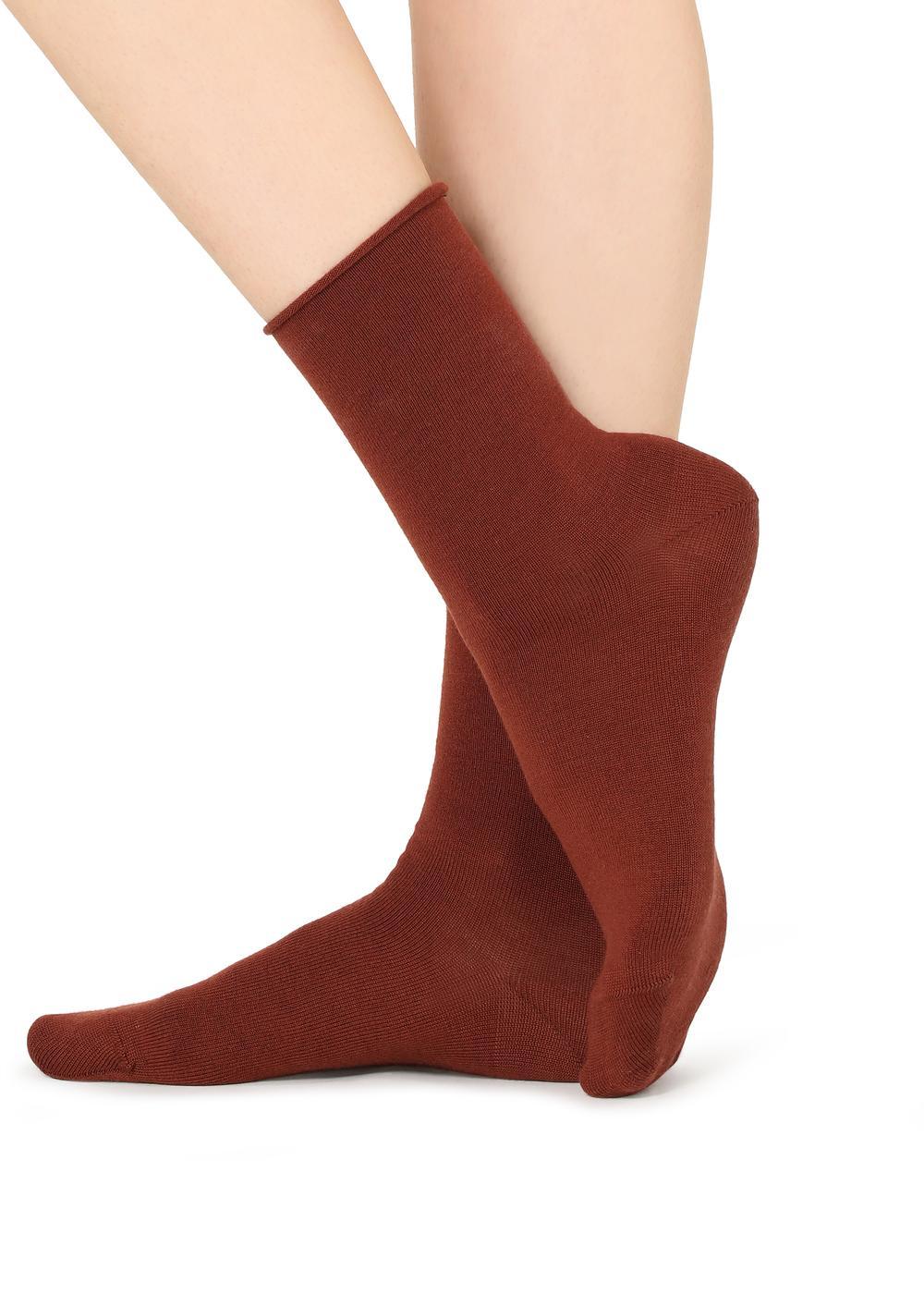 Calcetines en Lana/Algodón sin orillo