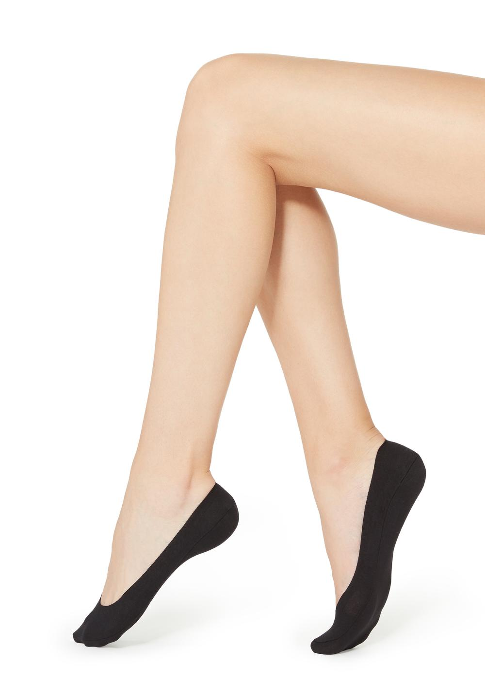 No-Show Laser Cut Cotton Socks