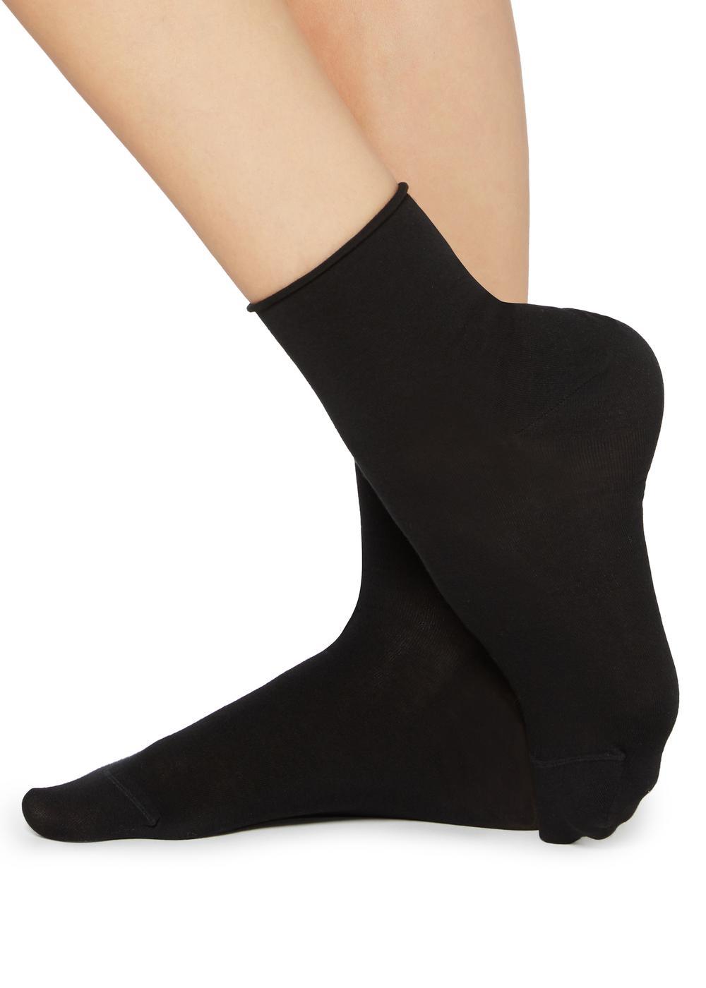 Light Cotton Socks With Comfort Cuff