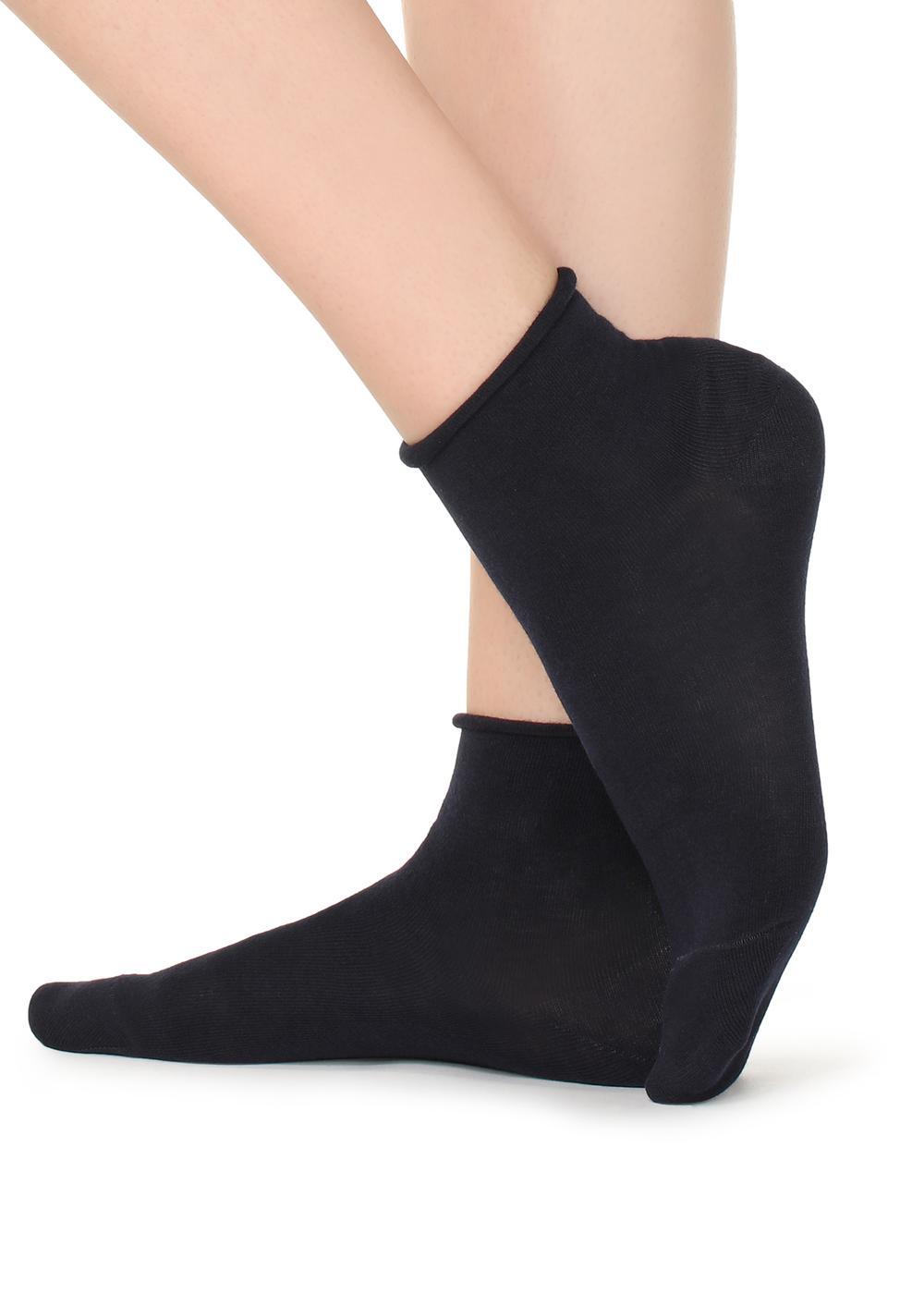 Chaussettes invisibles coton sans bord très courtes