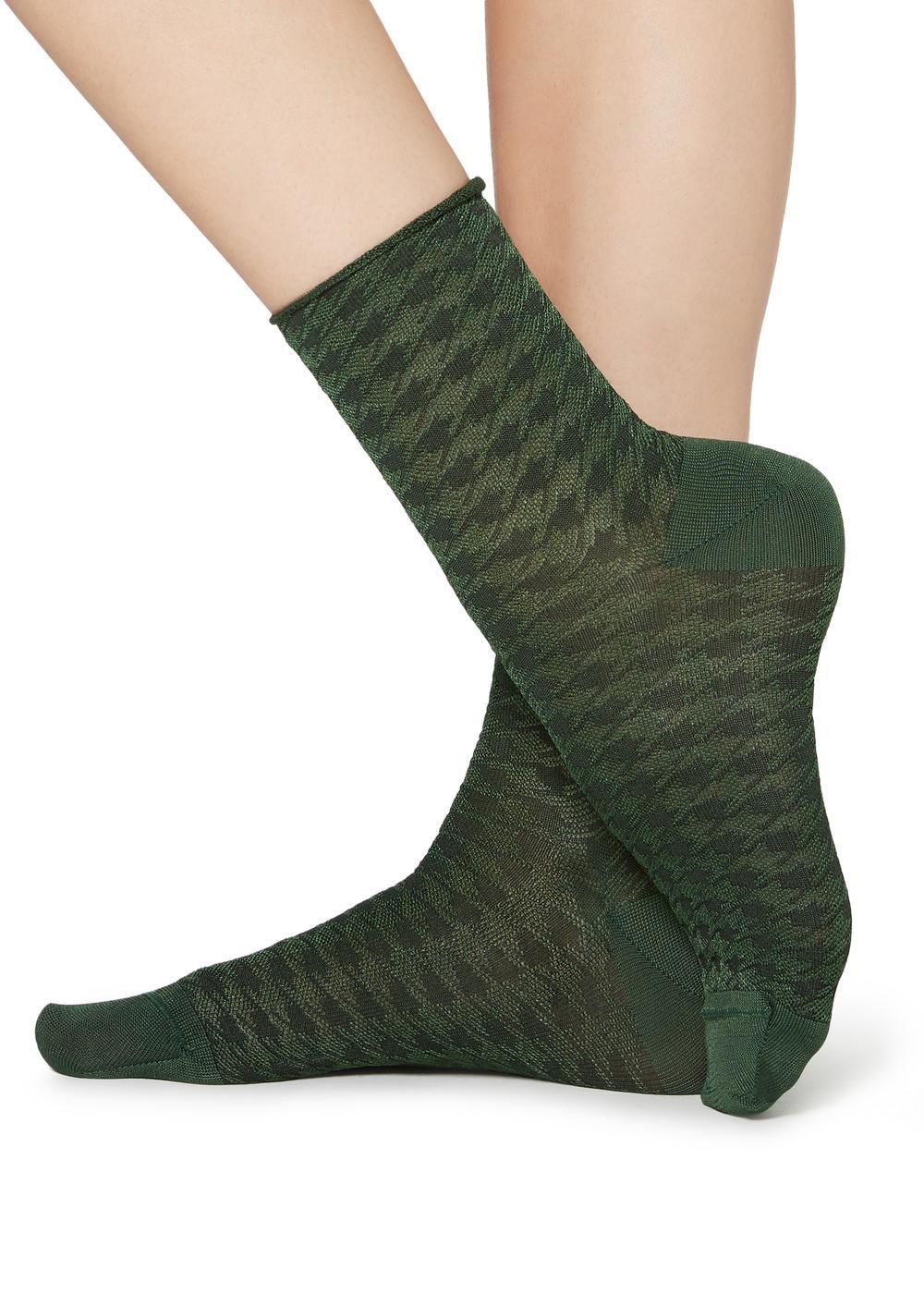 Vzorované krátké ponožky