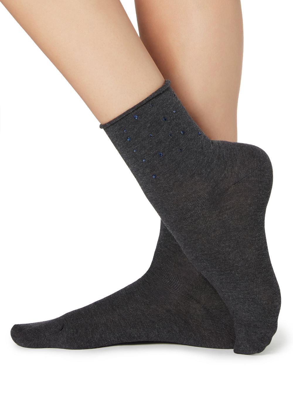 Calcetines cortos con apliques estampados
