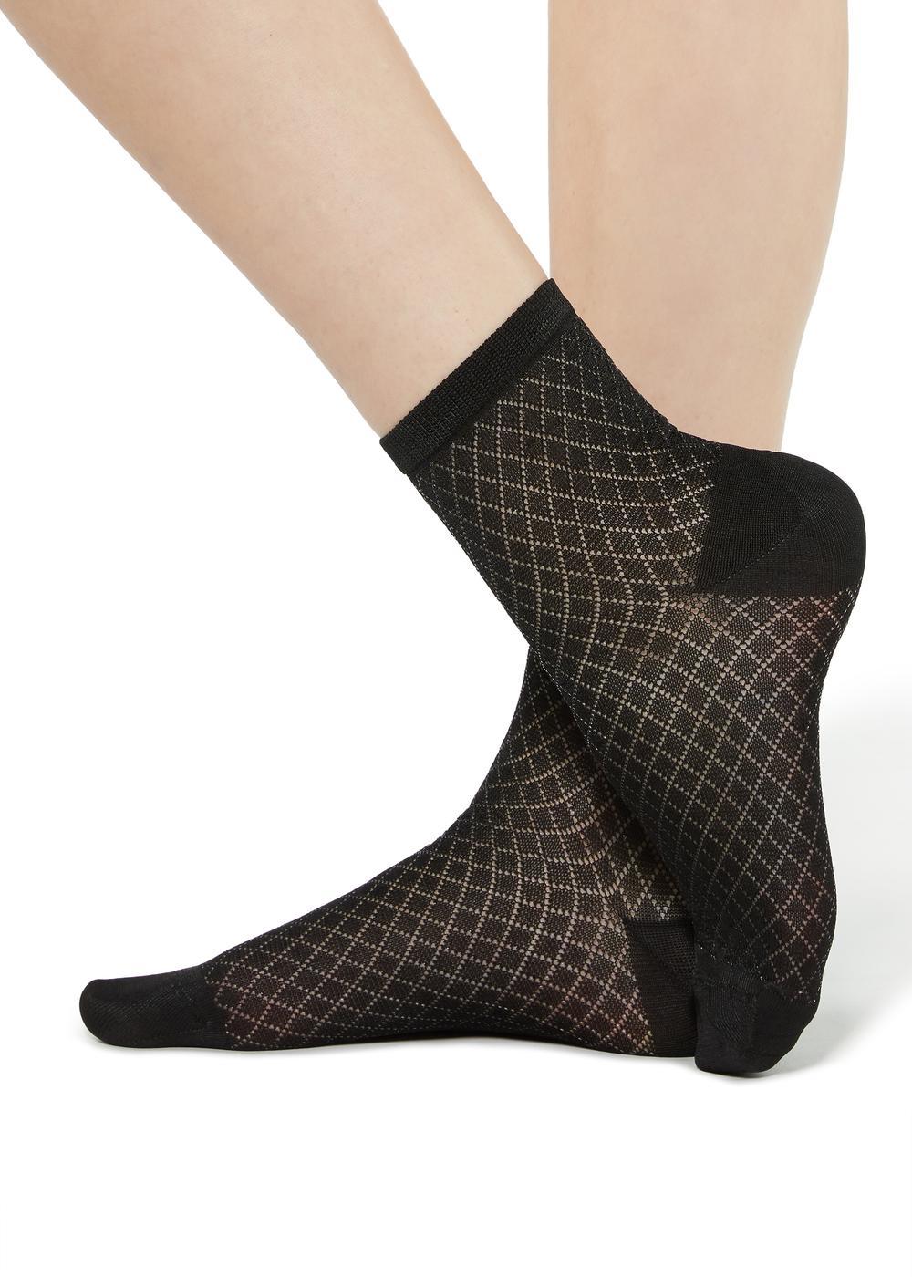 Fancy socks with geometric pattern