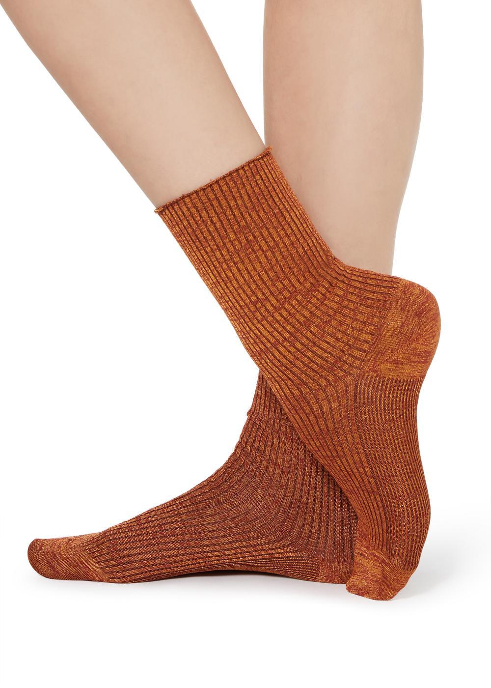 Socquettes mode à côtes fantaisie