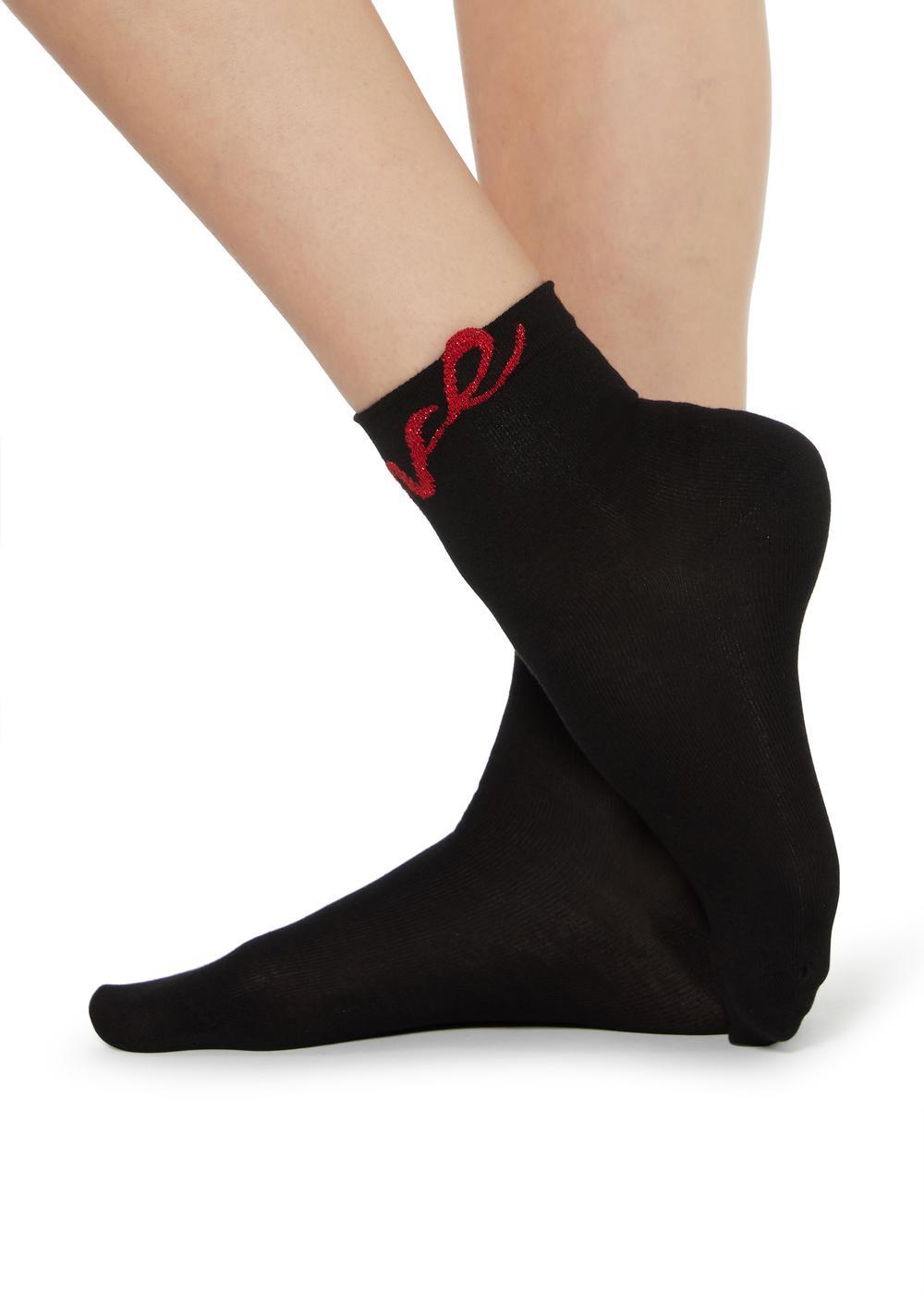 Socquettes mode Saint-Valentin