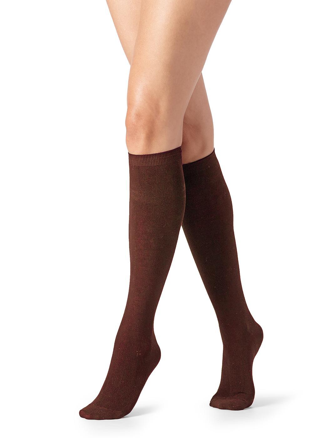 Lange Socken mit Kaschmir