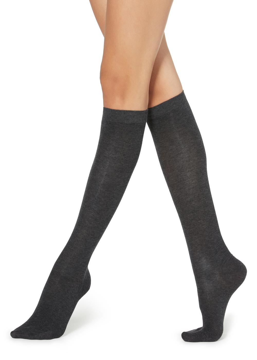 Tall Satin Cotton Socks