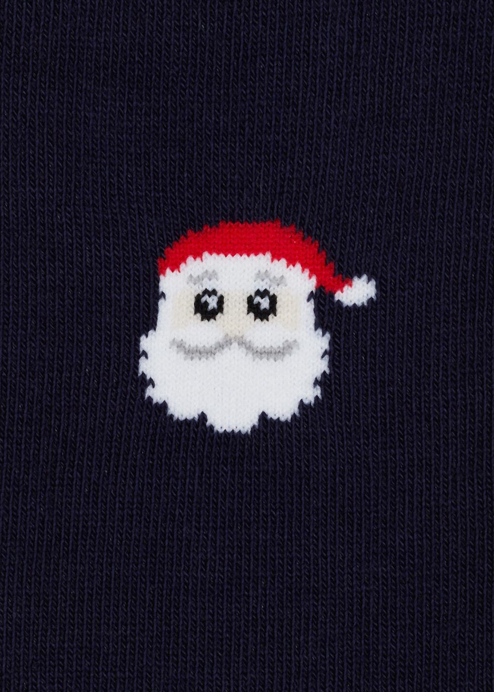Calcetines largos de algodón navideños para hombre