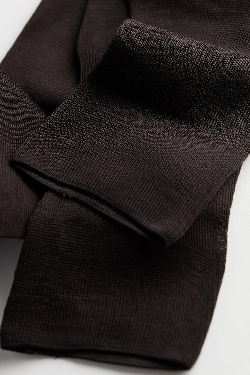 Long Extra-Fine Cotton Lisle Socks