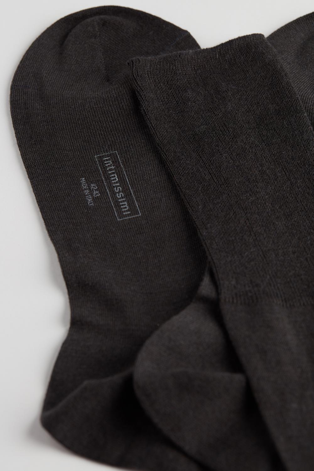 Long Socks in Cotton-Silk-Cashmere Blend