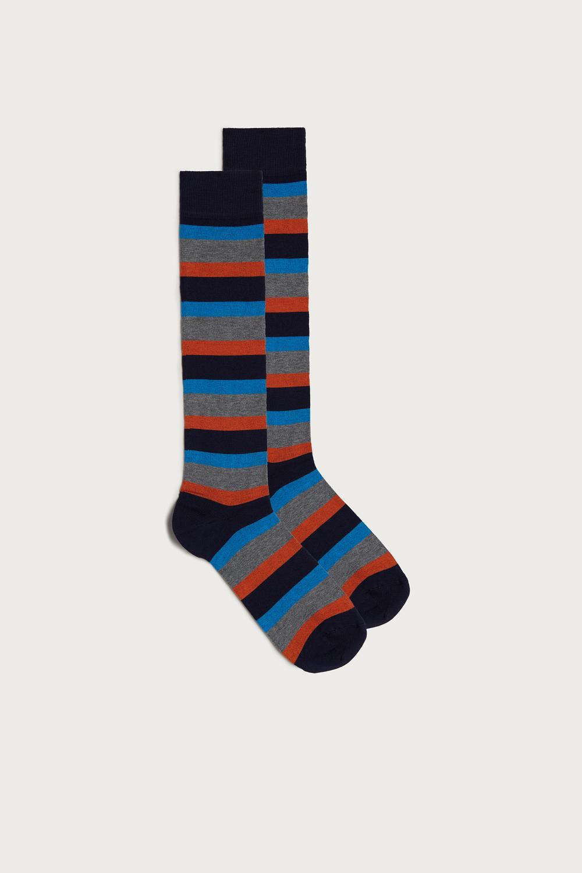Long Multi Pattern Supima Cotton Socks