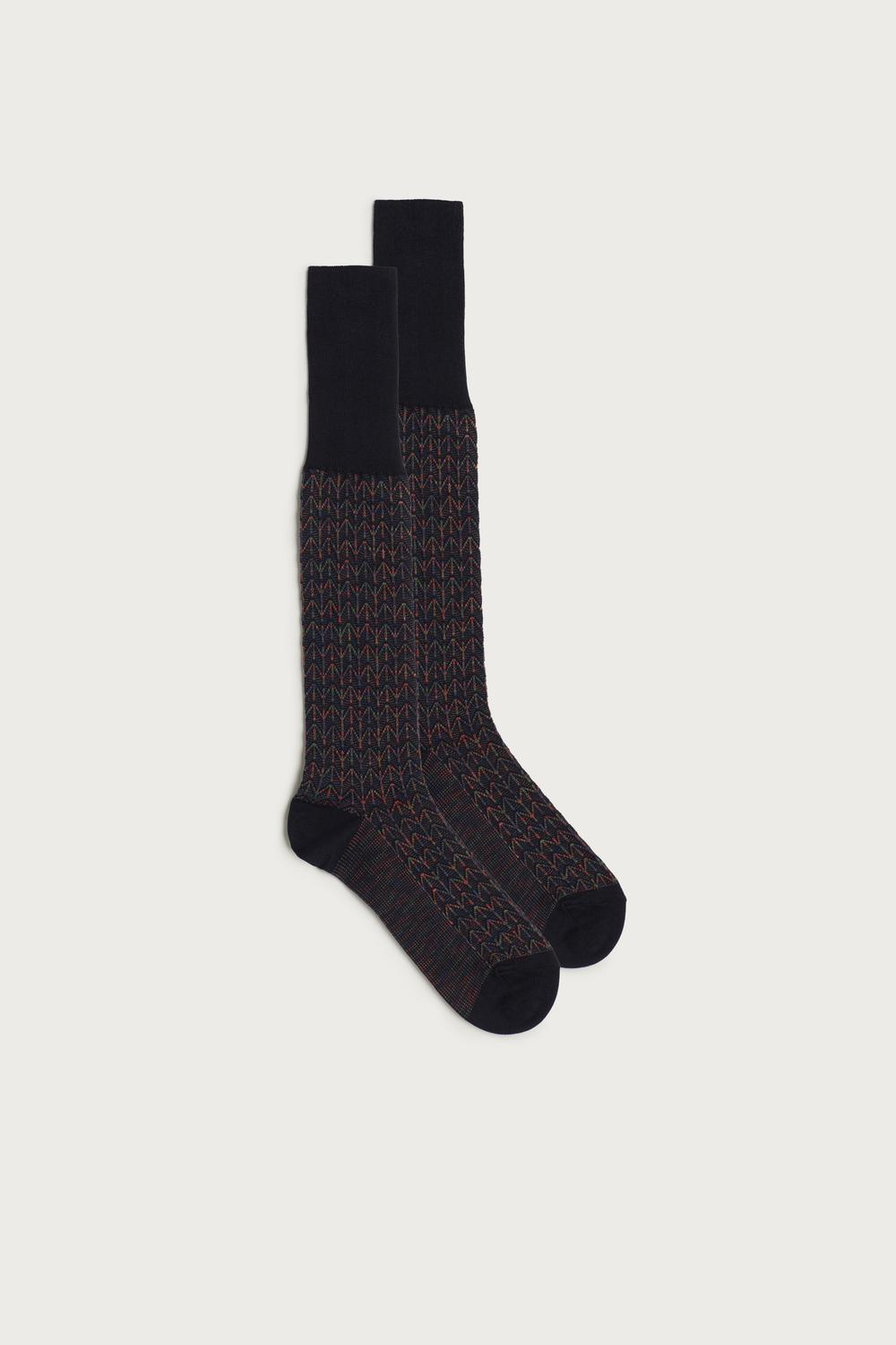 Long Cotton Socks in Different Patterns