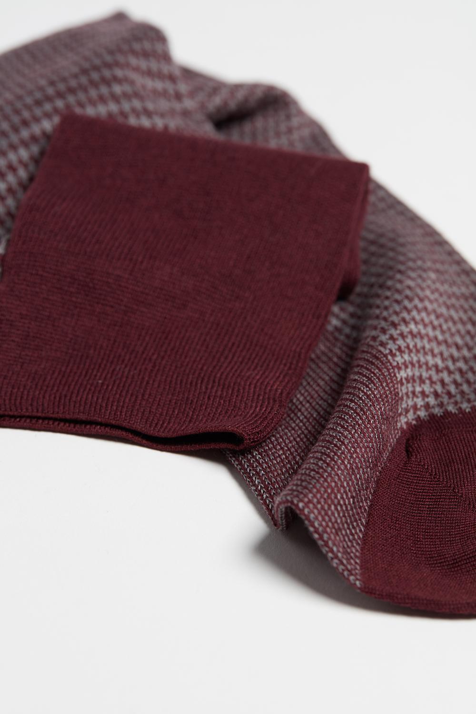 Dlouhé Bavlněné Ponožky s Různými Vzory