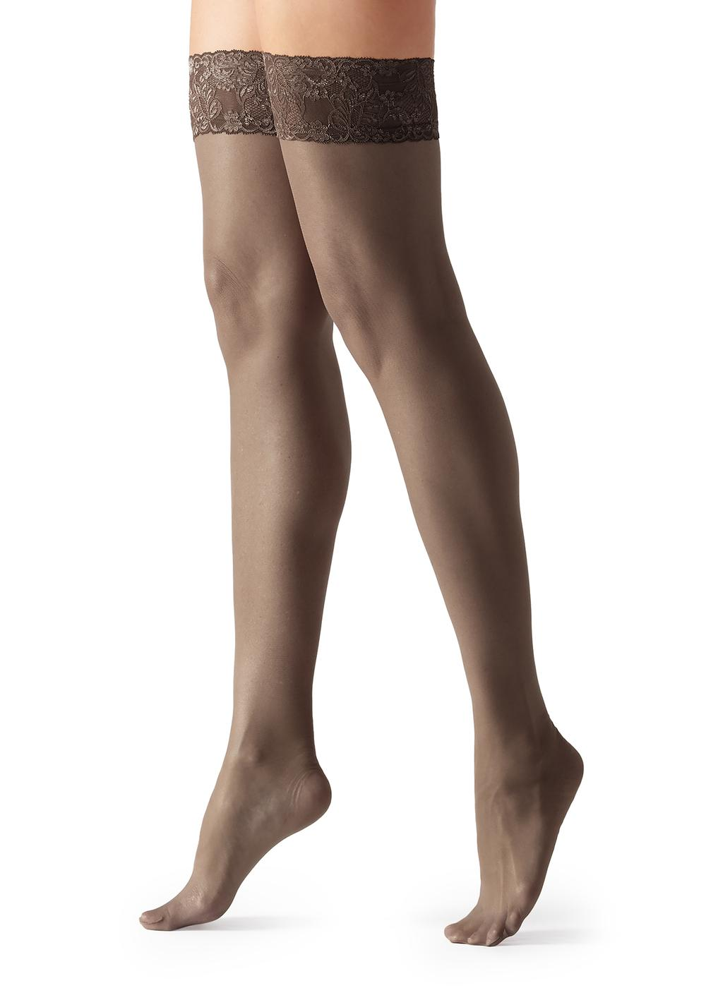 40 Denier Sheer Thigh-Highs