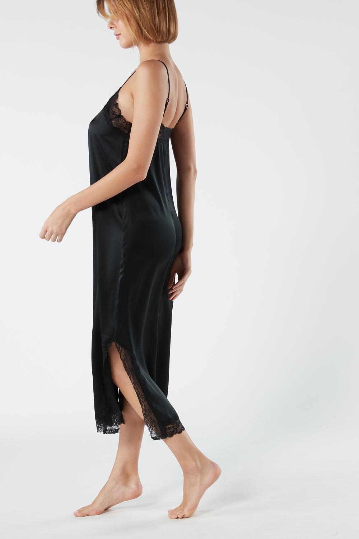 Long Silk Satin Slip