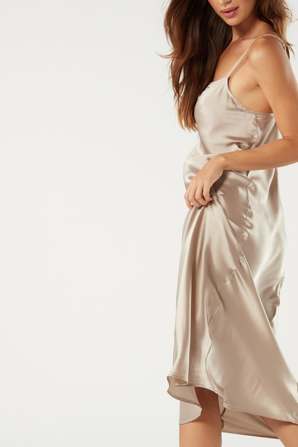 Midi-Length Slip in Silk