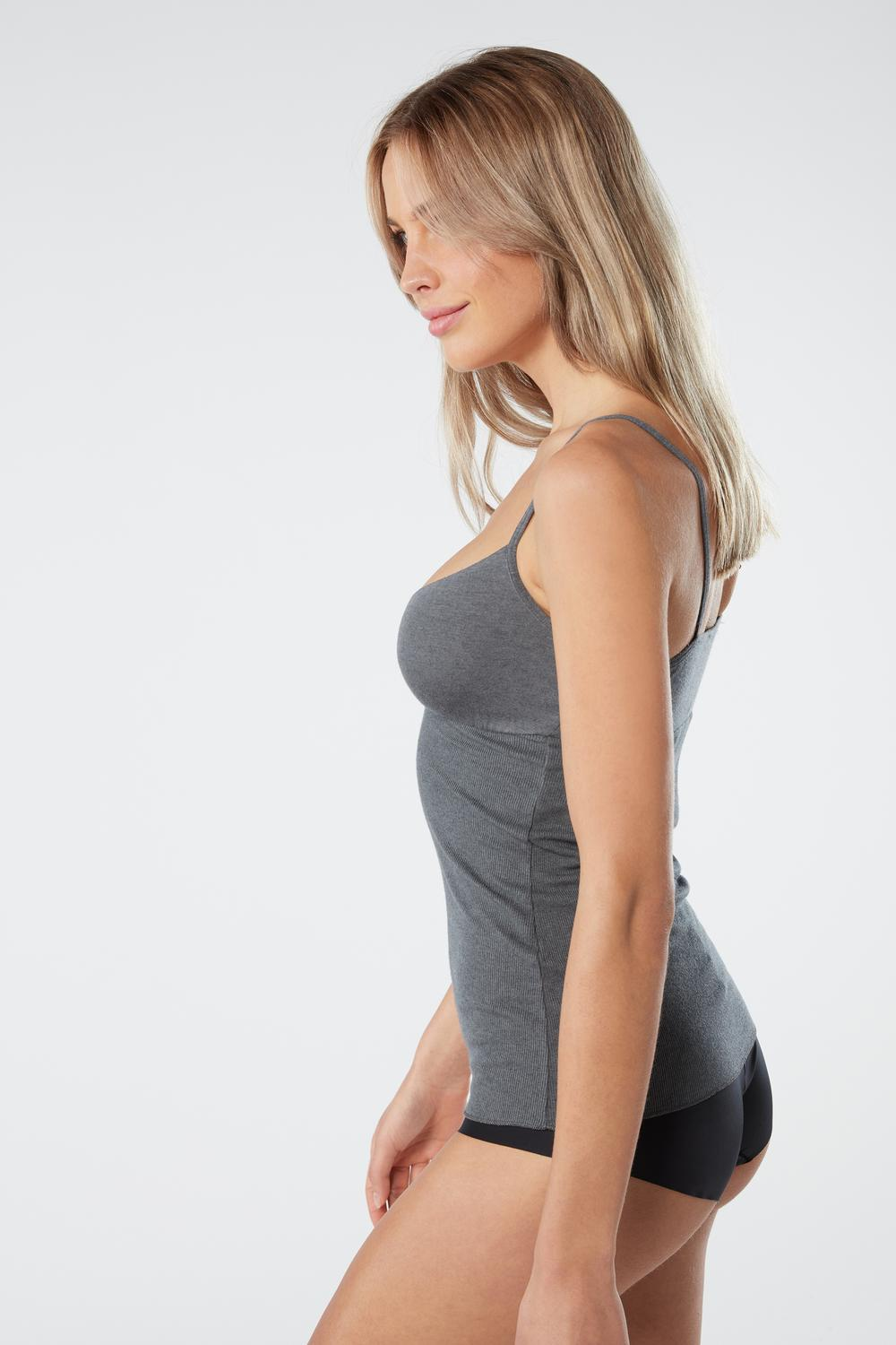 Ribbed Modal Cashmere Ultralight Top