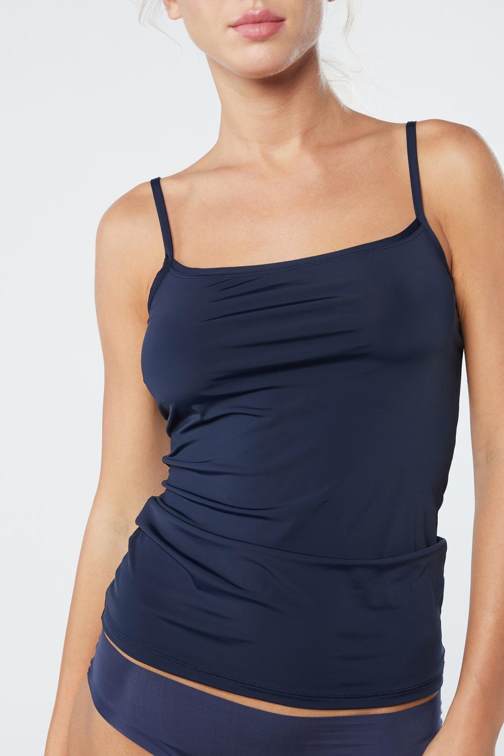 Light Microfiber Strappy Top