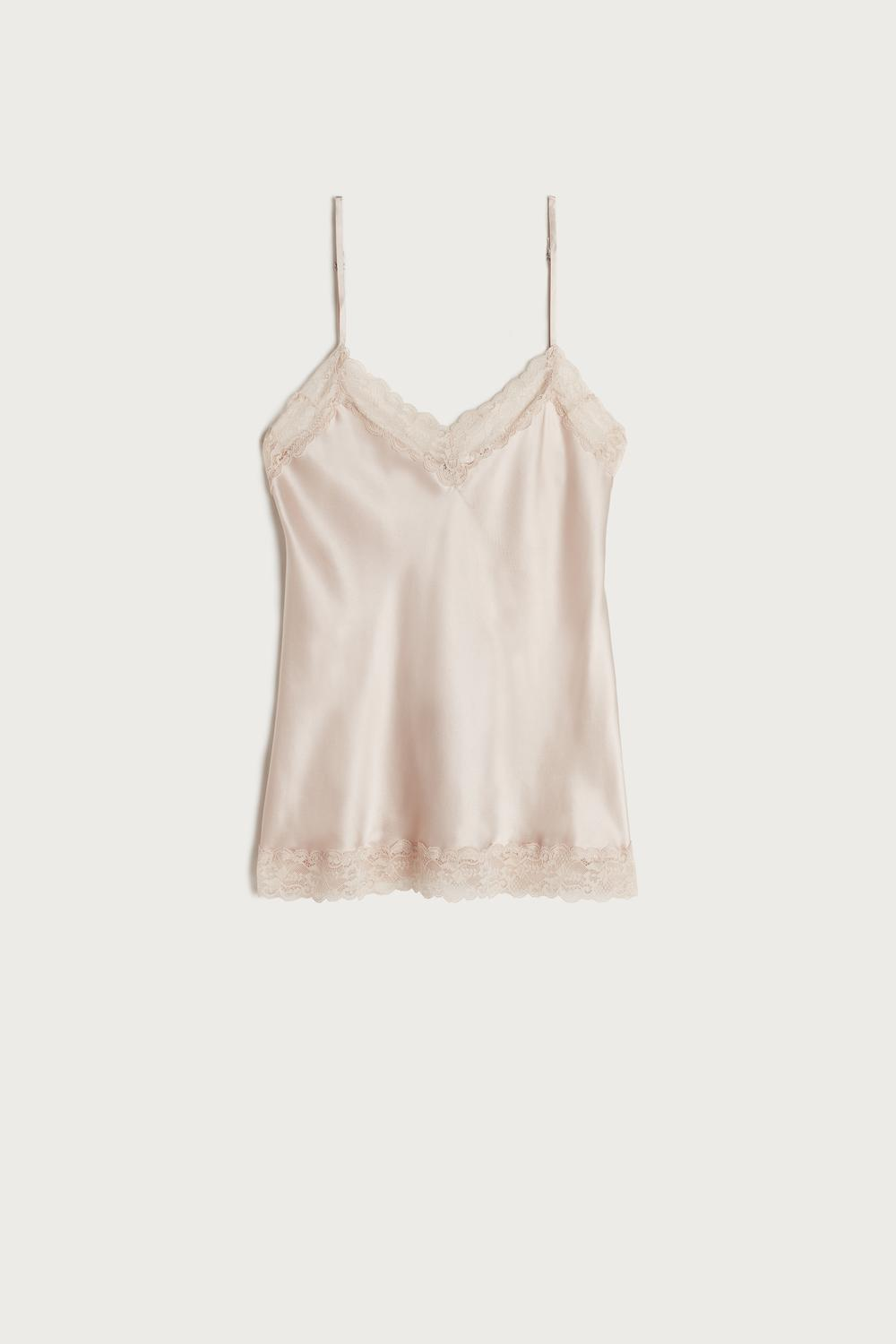 Lace and Silk Top