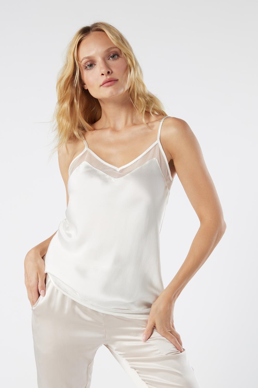 Silk Thin Strap Top