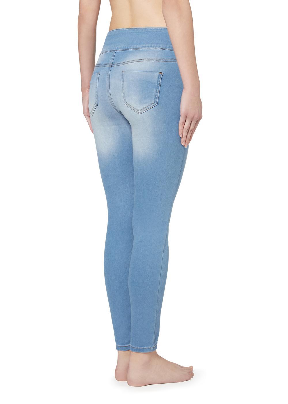 Shaping-Denim-Leggings mit hoher Taille