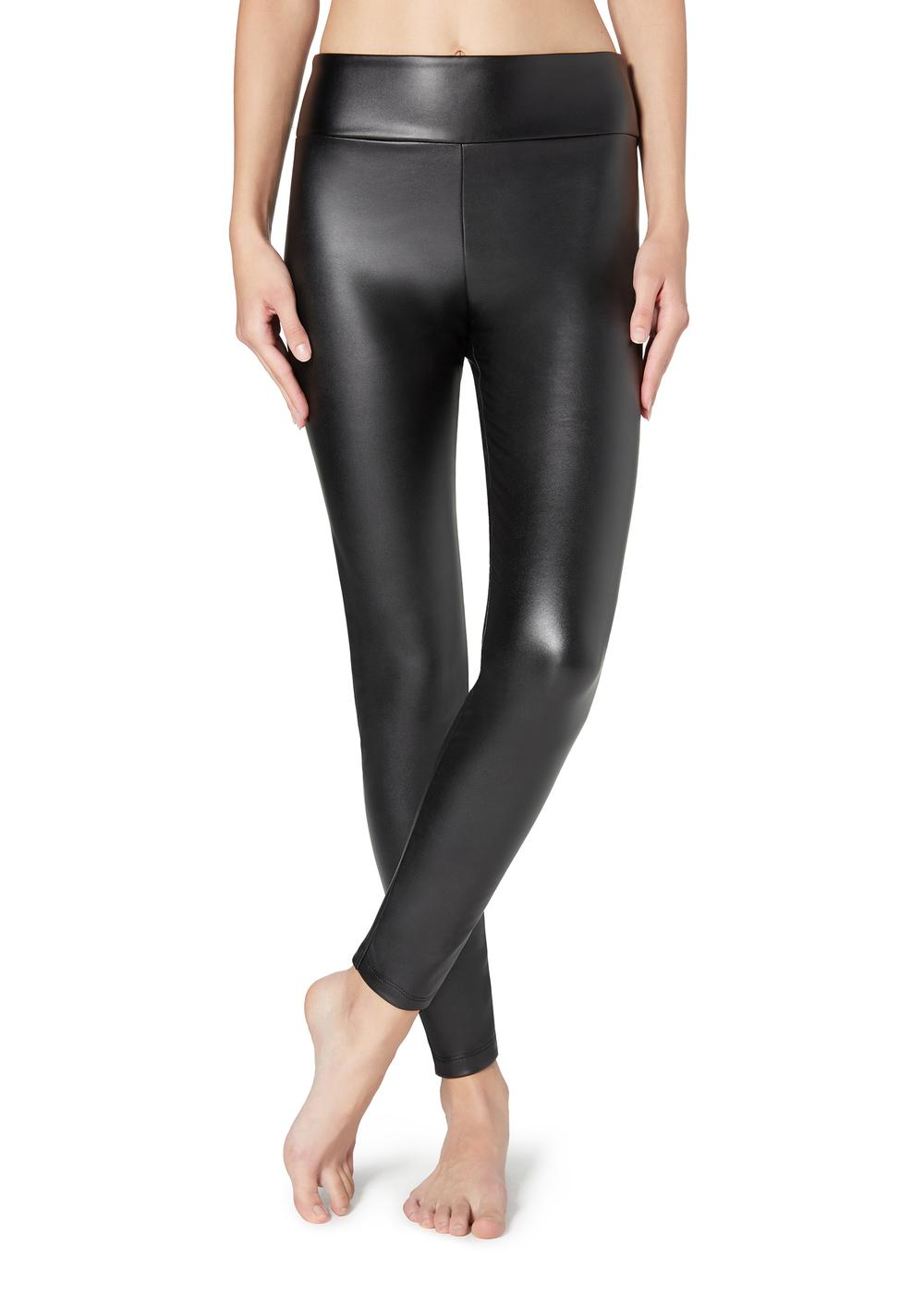 Thermal Leather Effect Leggings