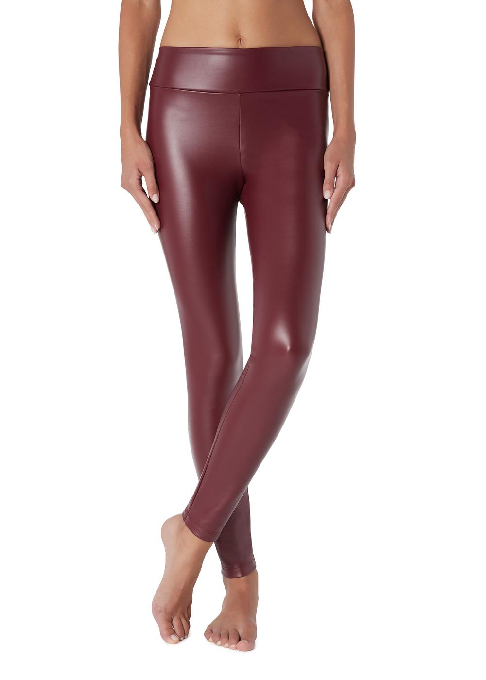 Warme Leder-Effekt-Leggings