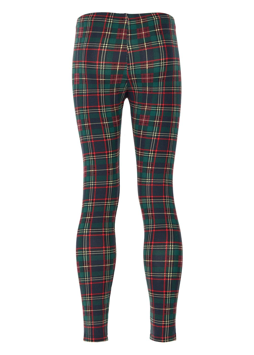 Leggings Fille à Motif Tartan