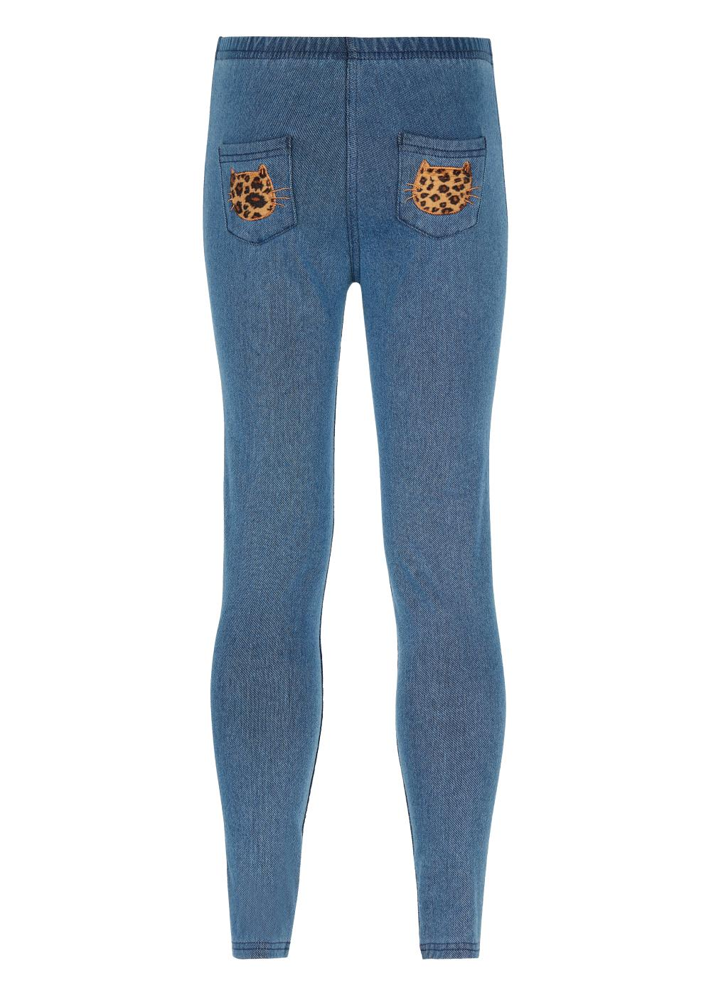 Leggings in Denim Termici da Bambina