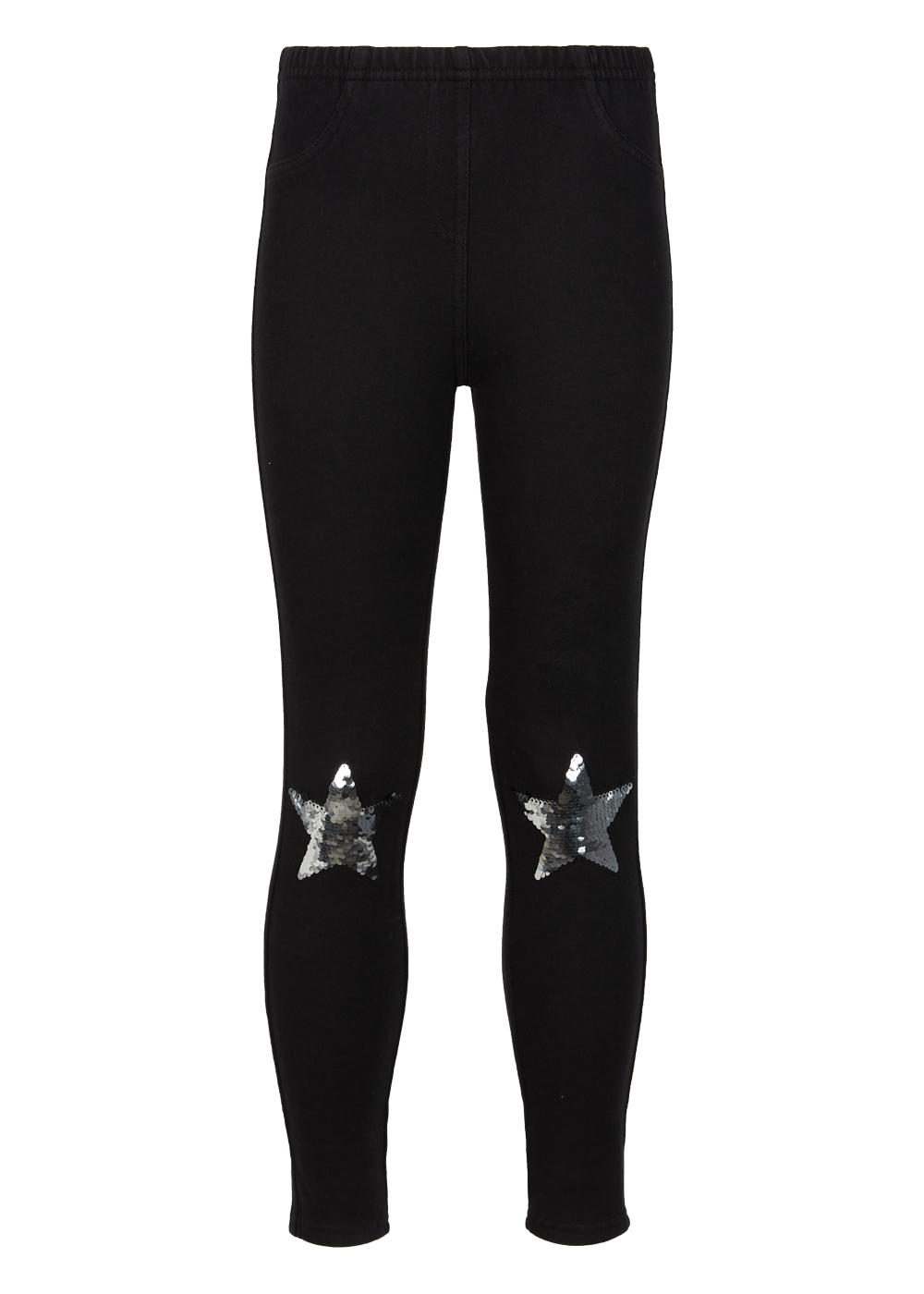Thermal Jeggings with Sequinned Stars