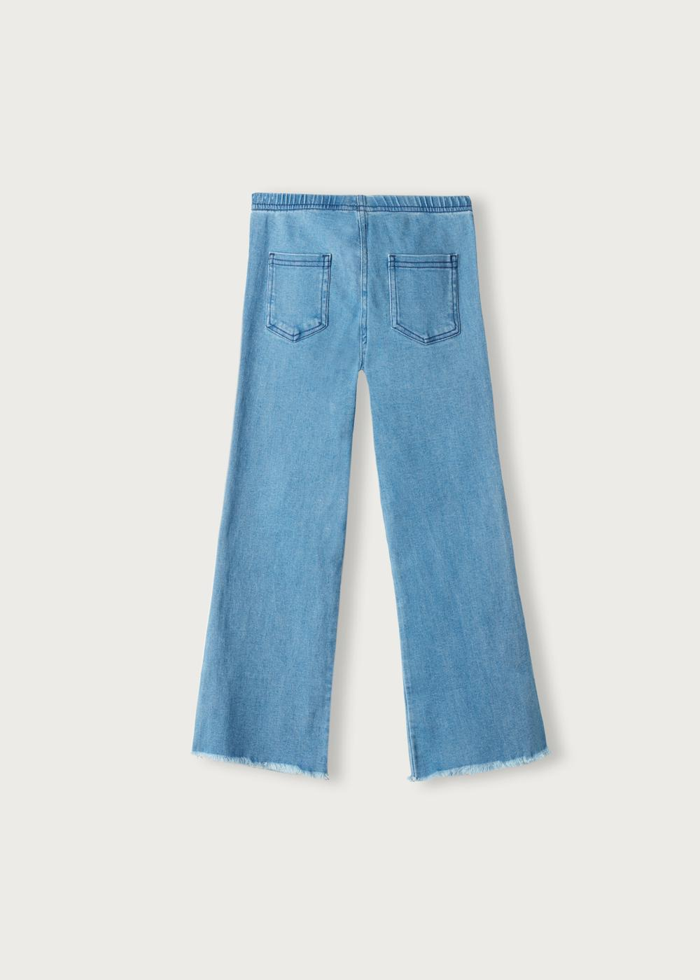 Jegging denim bas larges