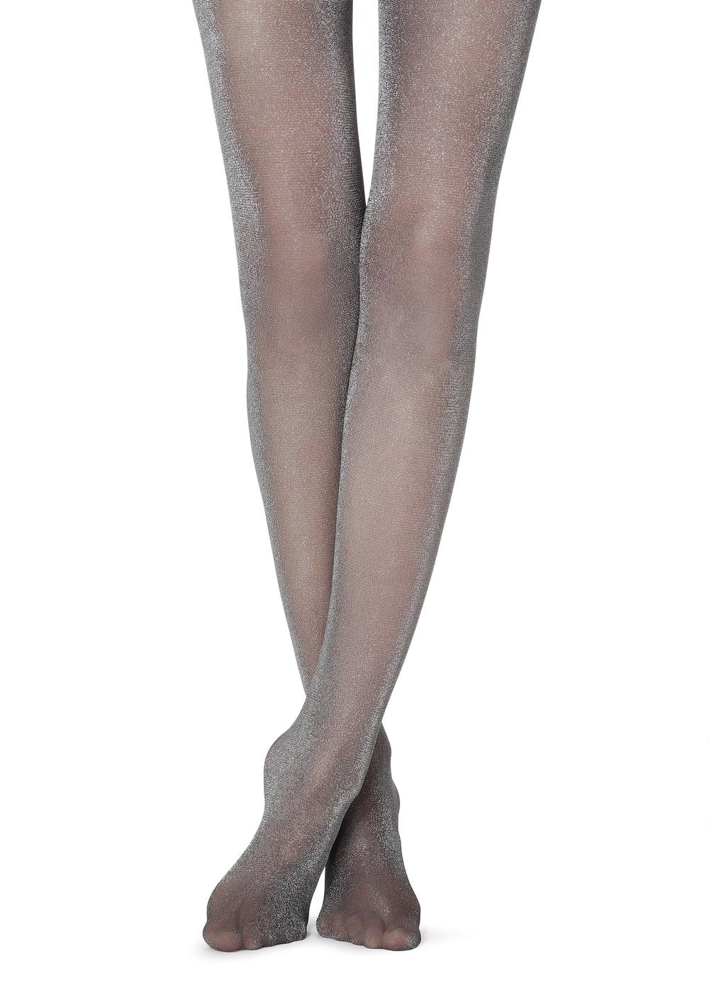 Light glitter tights