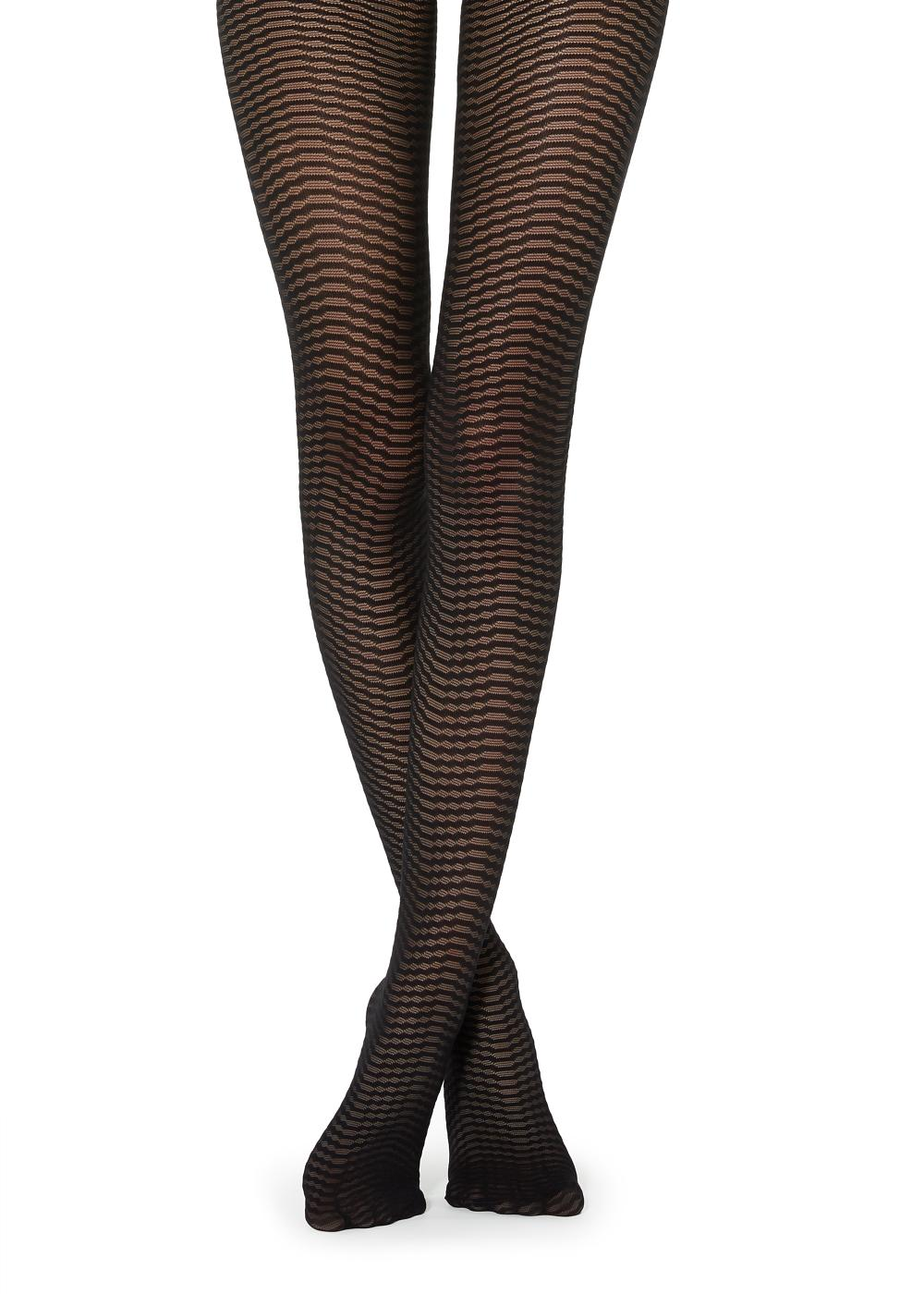 Wave Patterned Tights
