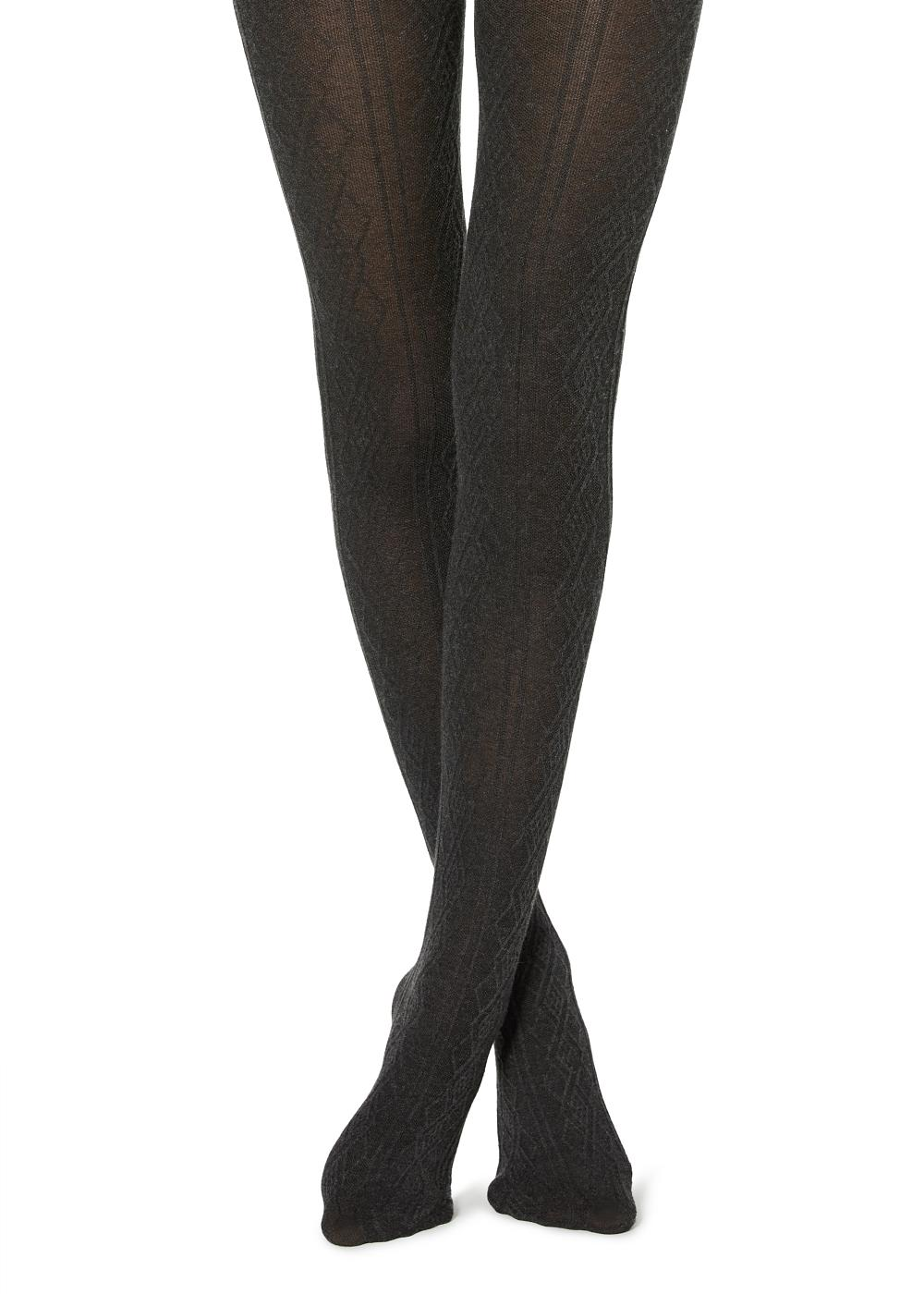 Women's Ribbed Cashmere Tights