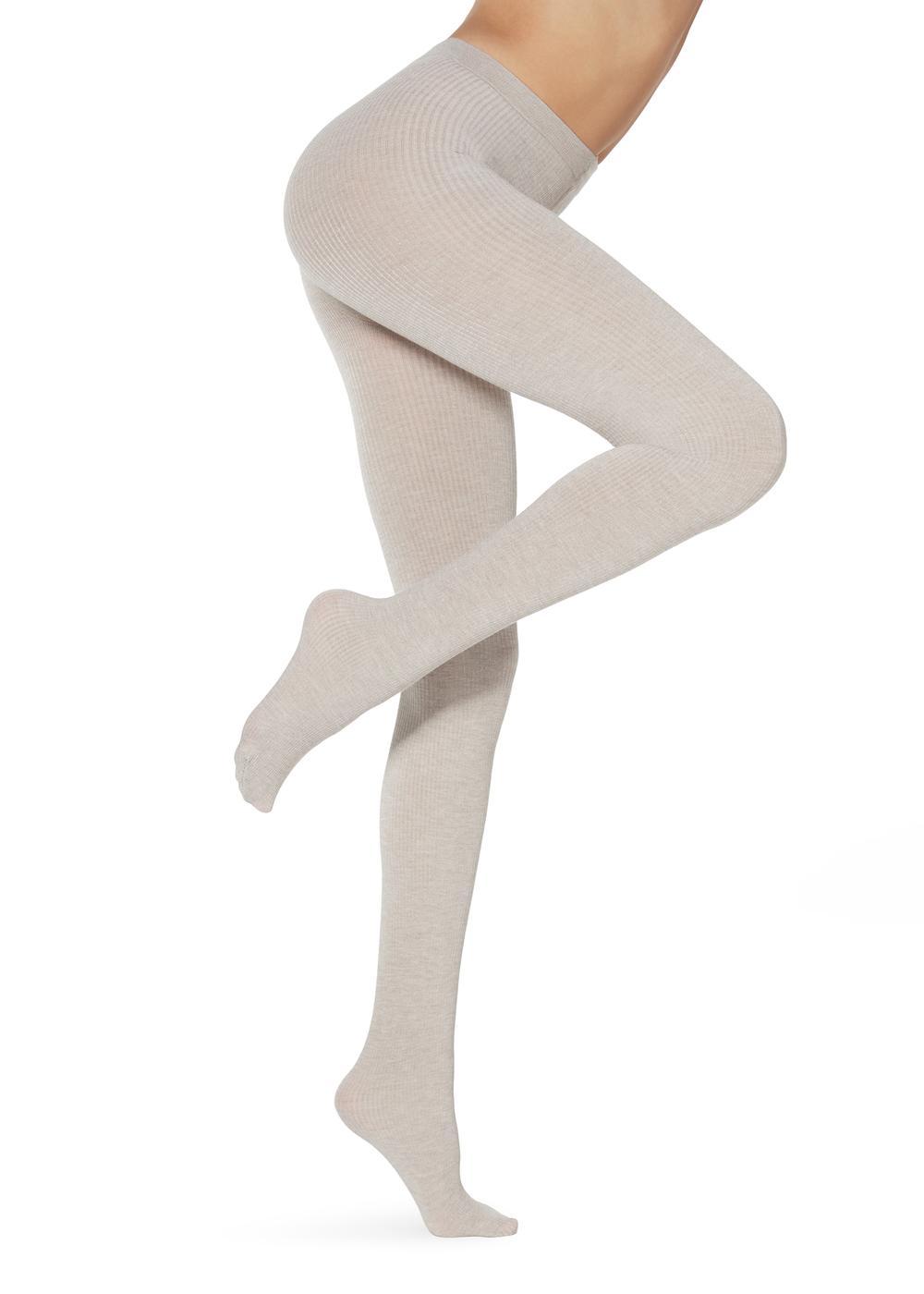 Dámske rebrované kašmírové pančuchové nohavice