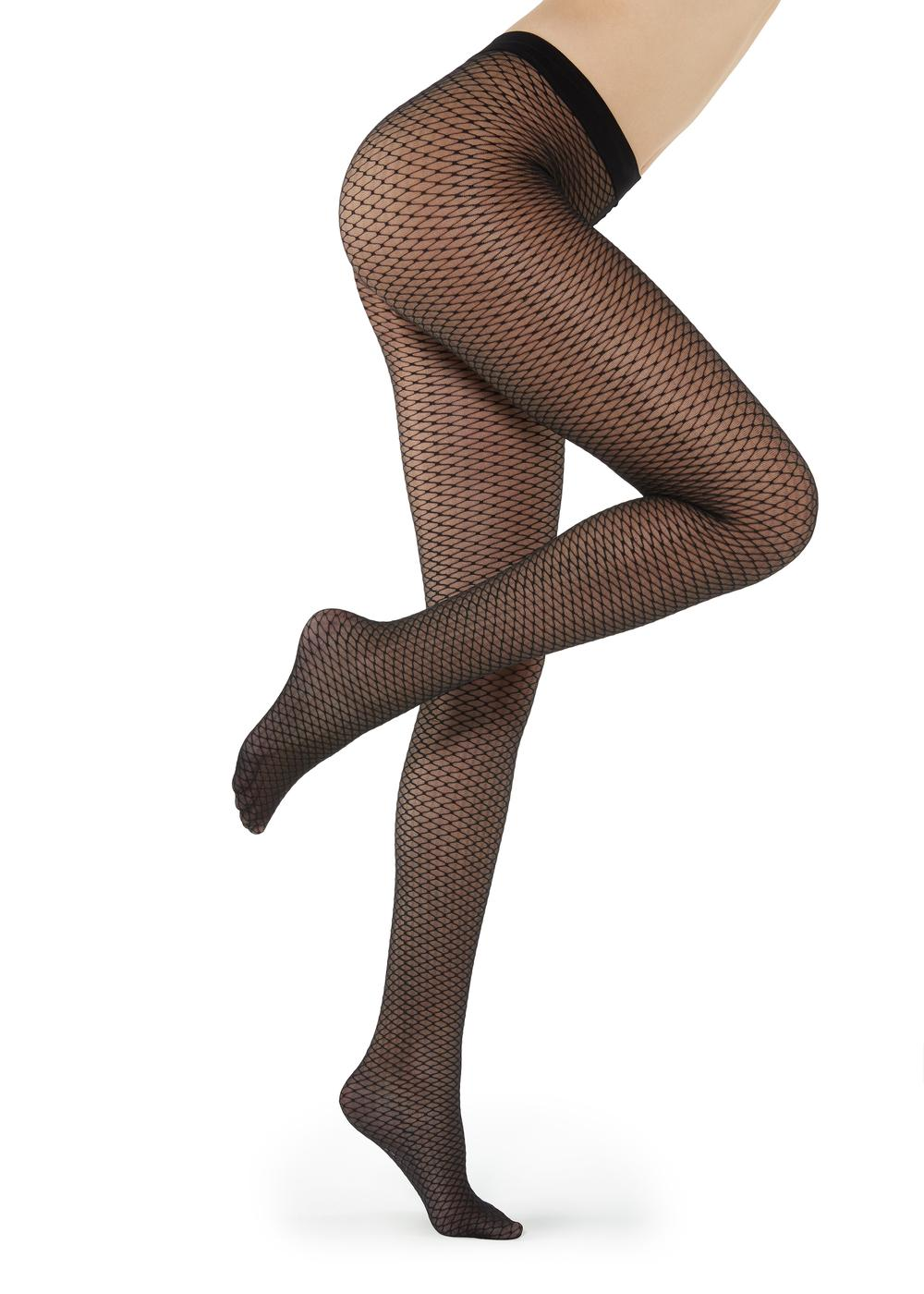 Fishnet tulle effect tights